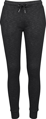 Urban Classics Ladies Space Dye Terry Jogpants, Pantalones de Deporte para Mujer Mehrfarbig (Black/White 50)