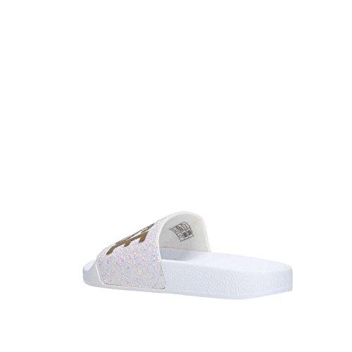 Brand Please White Gomma The Glitter Beach Donna White Ciabatte CH157Bqw
