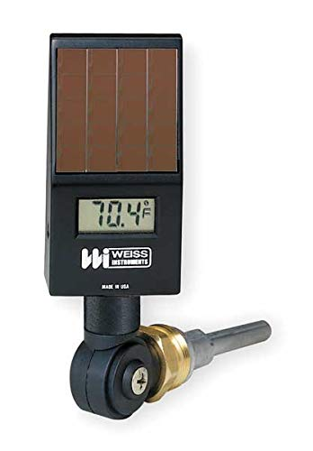 Weiss DVU35 Digital Solar Powered Thermometer, Black by Weiss