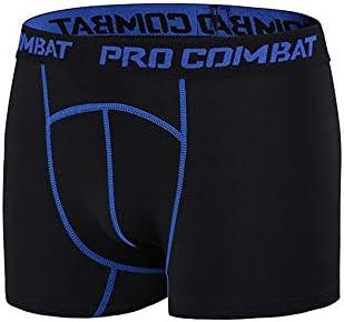 短いフィットネス メンズ弾性通気性スポーツアンダーウェア吸湿速乾性タイトフィットネスショーツ スポーツショーツ (色 : 青, Size : XXXL)