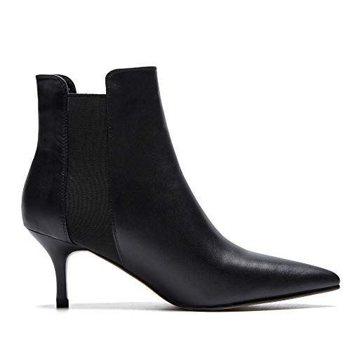 Chaussures Sexy Femmes Black Dames Aqoos Fete Bout Decontractee Bottes Pointu Bottines Stretch 1qTawvRxf