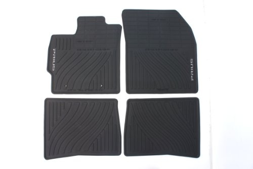 Genuine Toyota Accessories PT908-47110-20 Front and Rear All-Weather Floor Mat (Black), Set of 4