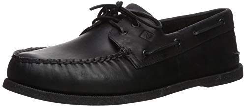 - Sperry Men's Authentic Original, Black Leather, 10 M (D)