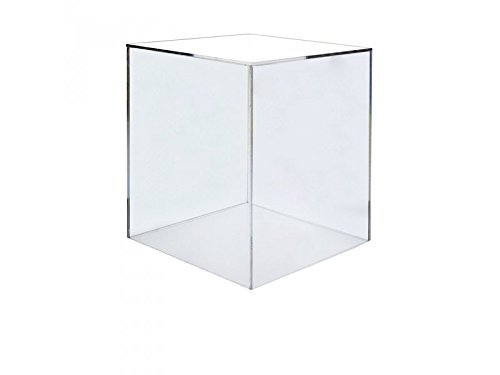 Marketing Holders Acrylic Box Case | 5 Sided Display Box | Acrylic Cube 18Hx18Wx18D - 3/16'' thick by Marketing Holders