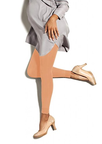(Preggers Maternity Footless Tights - 10-15 mmHg Gradient Compression Hoisery (Just Peachy,)