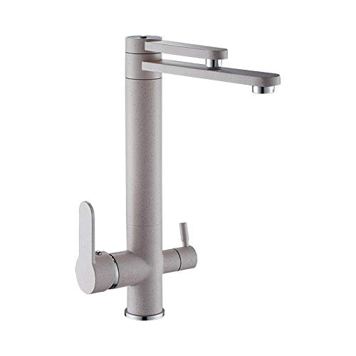 Kitchen Sink Taps Oatmeal Hot and Cold Kitchen Water Purifier Faucet Can redate Double Water