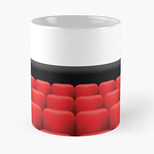 Hall Chair Cinema Seat - Coffee Mugs Unique Ceramic Novelty Cup For Holiday Days 11 Oz.