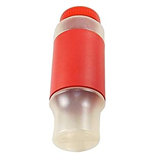 Set of 2 Sport Water Bottles, 24 Oz with Screw-On Cap, Foam Hand Grip - Red.
