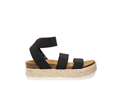 Steve Madden Women's Kimmie Wedge Sandal Black 8 M US