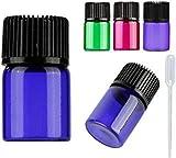 30pcs 2ml Colorful Essential Oil Bottles Mini 5/8