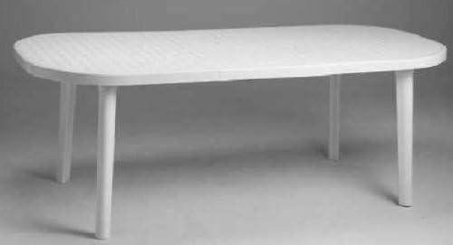 Tavolo Giardino Resina Allungabile.Li G Tavolo Allungabile In Resina Colore Bianco Amazon It