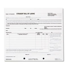 * Bill of Lading Short Form, 8 1/2 x 7, Three-Part Carbonless, 250 Forms