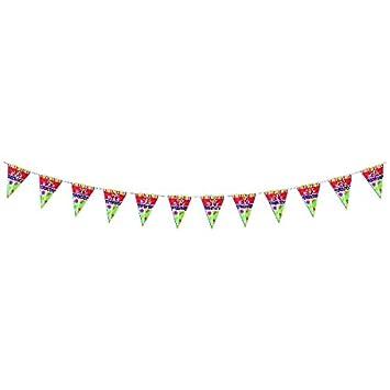 Amazon.com: Fiesta de cumpleaños banderines: Toys & Games