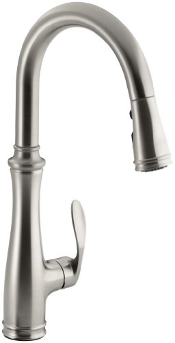 Kohler K-560-VS Bellera Pull-Down Kitchen Faucet, Vibrant Stainless Steel