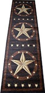 (Dean Western Star Lodge Cabin Ranch Carpet Runner Rug 2'3