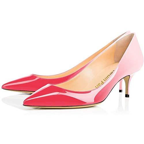 Caitlin Verni Femmes Chaton Chaussures Talon Cuir Bout De