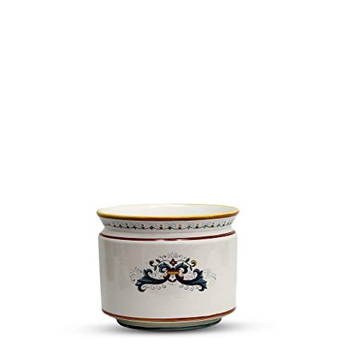 DERUTA BELLA Cylindrical Cover Pot Ricco Deruta Design Cachepot Planter Small