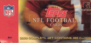 2003 Topps Factory Set Football Cards Unopened Hobby box - Carson Palmer & Larry Johnson Rookie Year
