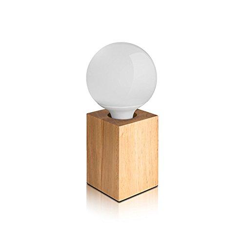JoyNano 10W Table Lamp Wood-Look LED G95 Light Bulb 3000K...