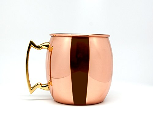 Copper Mug for Moscow Mules - 16 Oz (Nickel)