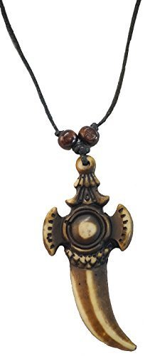 Medieval-LARP-SCA-Buccaneer-Pan-Gothic-Steampunk PIRATE NECKLACE - 4 to choose from (Sharks Tooth)