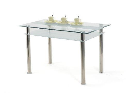 Presto mobilia 10286 Esstisch Glastisch Tisch Kay 120 x 70 x 75 cm, Glas