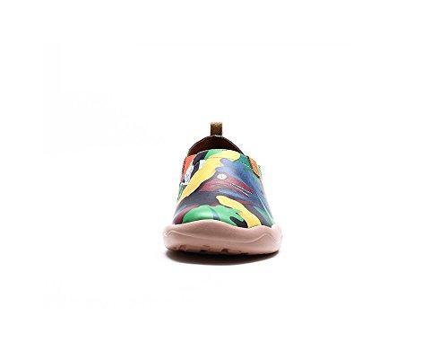 La UIN Chaussures Multicolore Comfortable de Femme Période Bateaux Cuir Jurassique pour UxwgHdSBxq