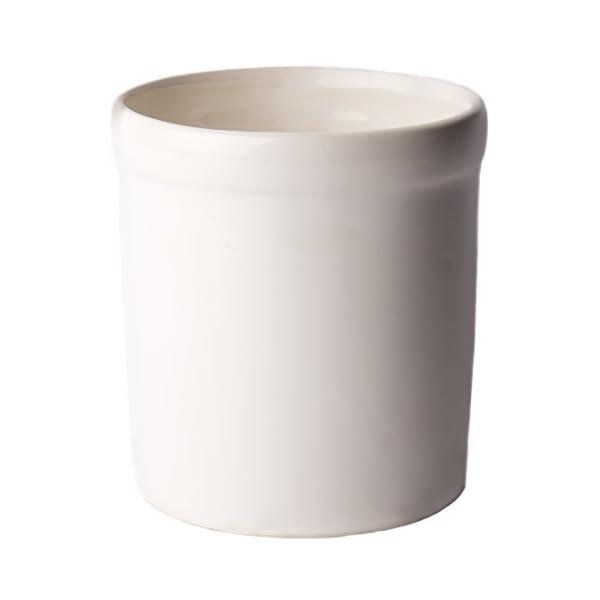 American Mug Pottery Ceramic Utensil Crock Utensil Holder, Made in USA, White 1