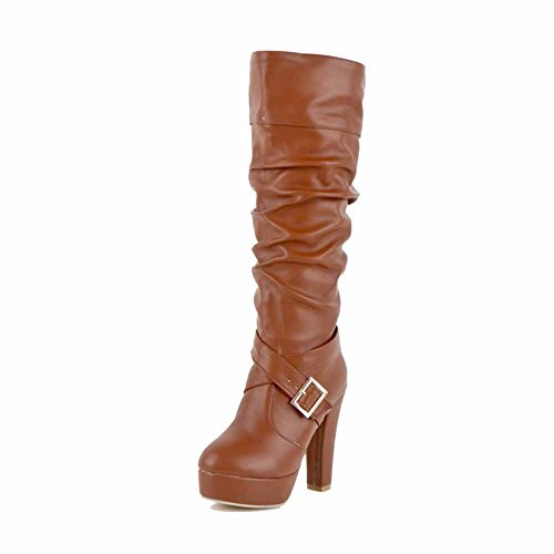 allhqfashion-womens-solid-pu-high-heels-pull-on-round-closed-toe-boots-brown-35