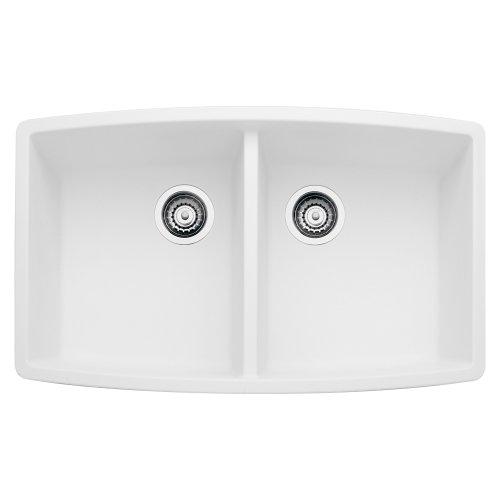 (Blanco 440071 Performa Silgranit II Double Bowl Sink, White)