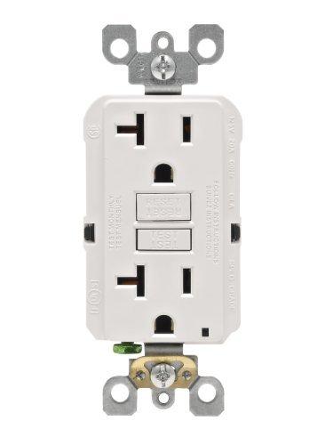 UPC 078477530498, Leviton N7899-W 20-Amp 125-Volt SmartLock Pro Slim Non-Tamper-Resistant Duplex GFCI Receptacle, White