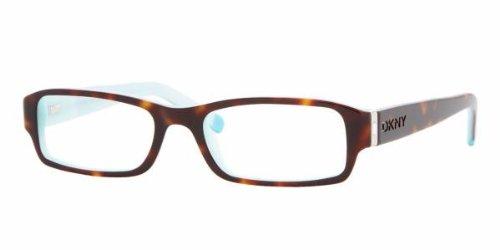 DKNY DY 4585B Eyeglasses Styles Havana-Azure Frame w/Non-Rx 52 mm Diameter Lenses, 3388-5217, DKNY