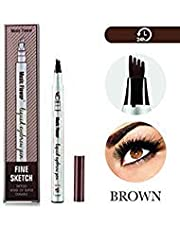 Arishine Eyebrow Tattoo Pen Microblading Eyebrow Pencil Tattoo Brow Ink Pen with a Micro-Fork Tip Applicator Creates Natural Looking Brows Effortlessly and Stays on All Day