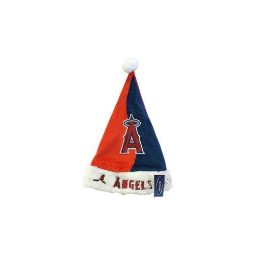Caseys Distribution 8132987199 Los Angeles Angels of Anaheim Color Block Santa Hat