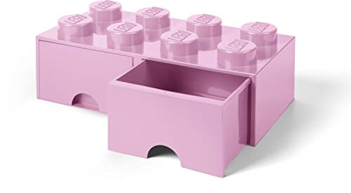 LEGO Storage 8 Brick Toy Box, Light Purple