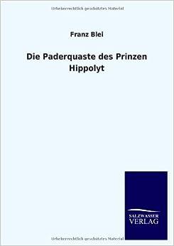Book Die Paderquaste Des Prinzen Hippolyt