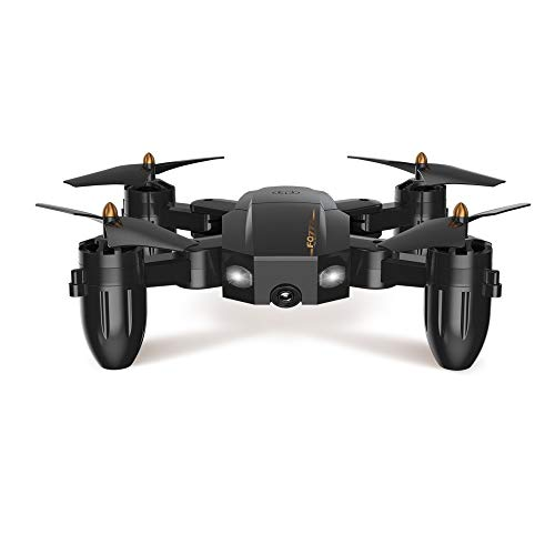 SJAPEX Drones with HD Camera for Aerial Photography,RC Quadcopter Flying Aircraft 4CH 6Axis Altitude Hold 3D Flips Headless Mode with LED Lights Gifts Gadgets for Teenagers Adults Black
