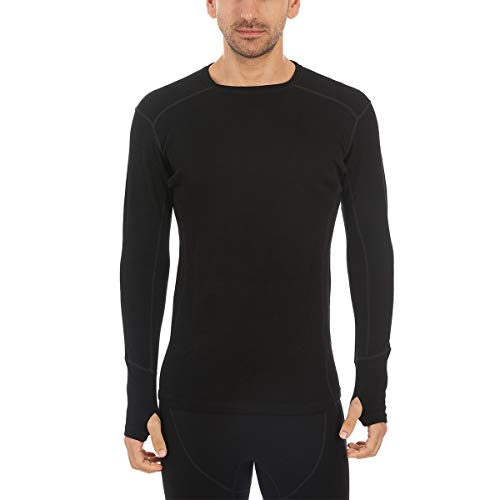 Minus33 Merino Wool Clothing Men's Explorer Midweight Wool Crew, Black, Medium ()