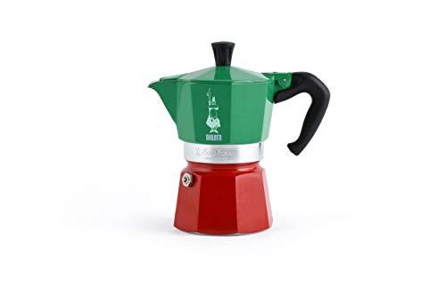 Bialetti – Moka Express colección Italia (Tricolor), cafetera de 3 Tazas, Aluminio