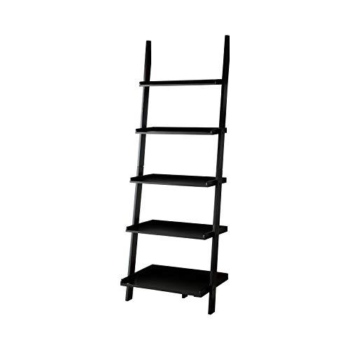 247SHOPATHOME IDF-AC6213BK Edmonton 5-Shelf Bookcase, Black (Furniture Edmonton Cheap In)