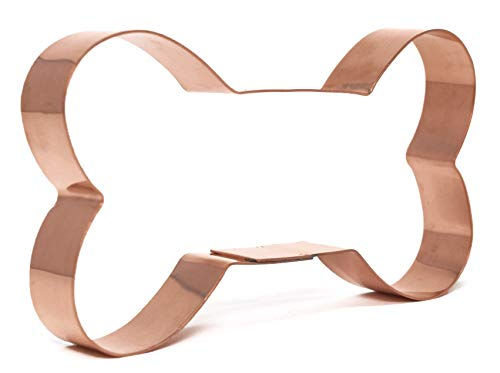 5 Inch Copper Dog Bone Cookie Cutter by The Fussy Pup