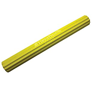 TheraBand FlexBar, Tennis Elbow Therapy Bar, Relieve Tendonitis Pain & Improve Grip Strength, Resistance Bar for Golfers Elbow & Tendinitis, Yellow, Extra Light, Beginner