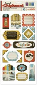 We R Memory Keepers Geo-Hectic Adhesive Foil Layered Chipboard: Tags (Tags Chipboard Layered)