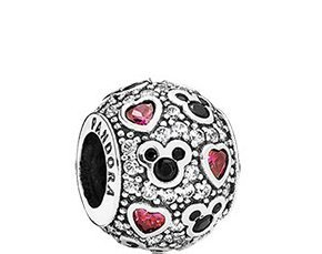 Pandora Disney Sparkling Mickey with Hearts Charm 791457CZ