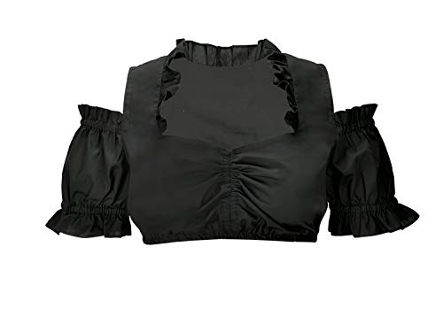 Dirndl Blouse Traditional Blouse Alba in Black 42 -