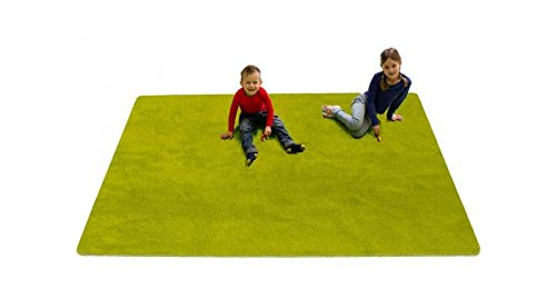 Learning Carpets Solid Green - Learning Carpets CPR467 - Solid Green Rectangle