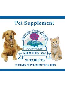 Plus Vet 90 Tabs (Ayush Herbs Neem Plus Vet 90 tabs by Ayush Herbs)