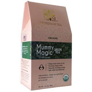 Mummy Magic Green Tea by Secrets of Tea  Natural Postpartum Weight Loss Tea with no chemicals amp no caffeine Safe while breastfeeding 20 Sachets Up to 40 servings