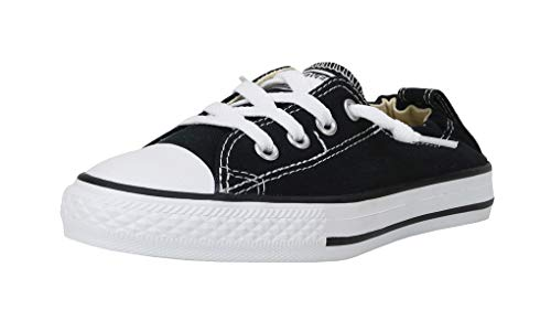 Converse Girls' Chuck Taylor All Star Shoreline Sneaker, Black, 5.5 M US Big - Ons All Chuck Slip Star Taylor