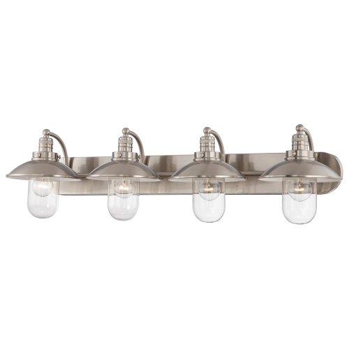 Minka Lavery Wall Light Fixtures 5134-84 Downtown Edison Glass Bath Vanity Lighting, 4 Light, ()